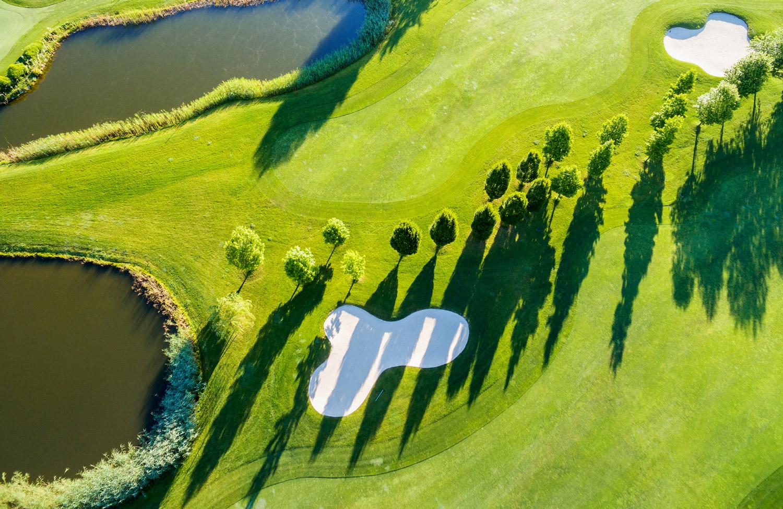 Golfplatz von oben